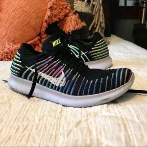 Nike Free Flyknit athletic shoes